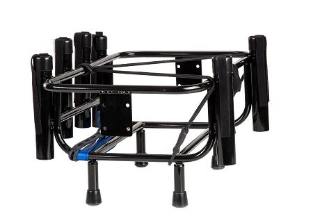 Jetski fishing rack 6 rod holders rotopax gas bracket black for Jetski fishing rack