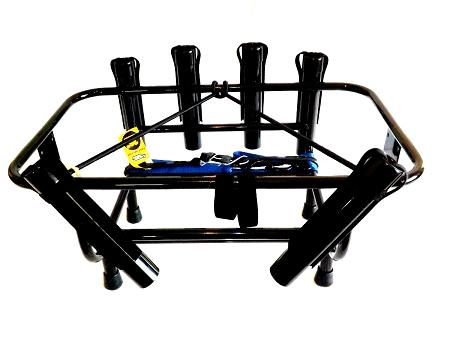 Jetski fishing rack with 6 rod holders for yeti coolers for Jetski fishing rack