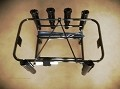 Jetski Fishing Rack 6 Rod Holders Rotopax Gas Bracket Black
