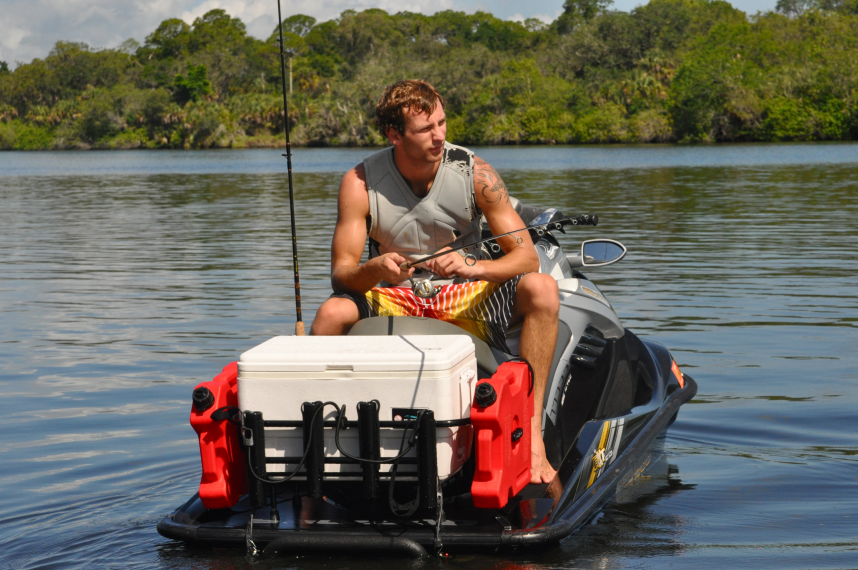 Jetski fishing racks kool pwc stuff for Fishing jet ski for sale