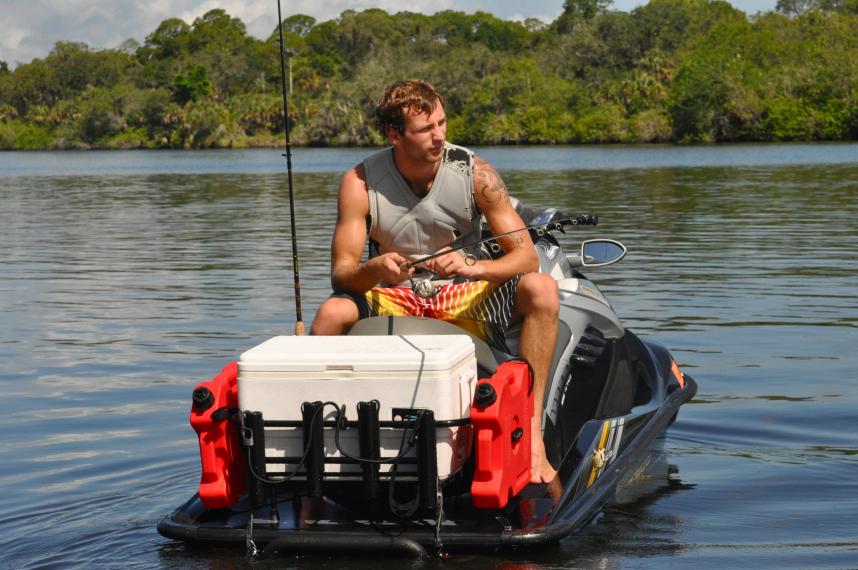 Jetski fishing racks kool pwc stuff for Jet ski fishing accessories