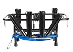 Jet Ski Fishing Rack 6 Rod Holder with Gas Plates Black