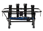 Jet Ski Fishing Rack 4 Rod Holder with Gas Plates Black