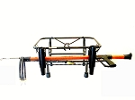 Jet Ski Spearfishing Rack with 2 Rod Holders Extended Black